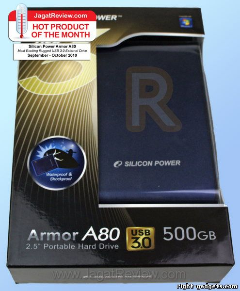 Коробка от Silicon Power Armor A80