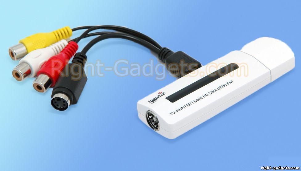 TV-HUNTER HYBRID_HD U500FM вместе с кабелем