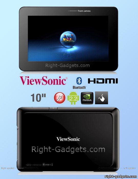 ViewSonic ViewPad 10s c передней и задней стороны