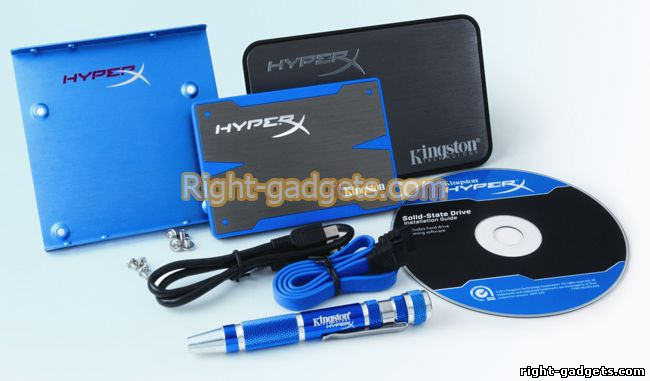 Комплектация Kingston hyperX SSD