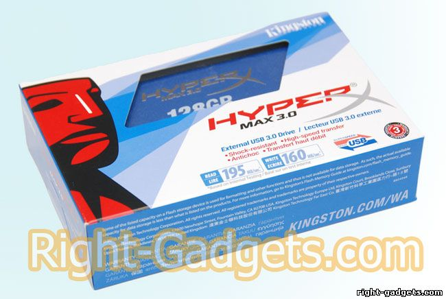 Kingston hyperX SSD в коробке