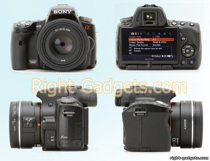Sony SLT A55 со всех ракурсов